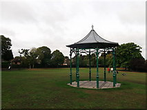 TQ4265 : Pavilion in Hollydale Recreational Grounds by David Anstiss