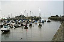 SN4562 : Aberaeron, harbour entrance by Stuart Logan