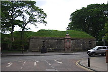 NT9953 : Fountain by the town walls by N Chadwick