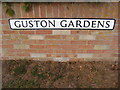 TM2839 : Guston Gardens sign by Adrian Cable