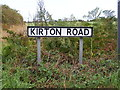 TM2738 : Kirton Road sign by Adrian Cable