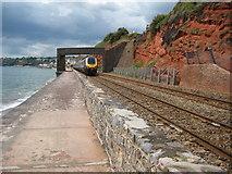 SX9777 : Train approaching Dawlish by Philip Halling