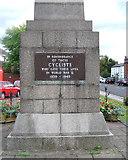 SP2382 : World War II plaque, Cyclists' War Memorial  by Robin Stott