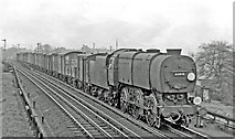 TQ2182 : Down freight on North & Southwestern line near Acton Wells Junction by Ben Brooksbank