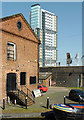 SO9198 : Wharf and warehouse in Broad Street Basin, Wolverhampton by Roger  Kidd