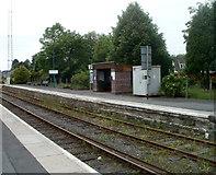 SN7634 : Platform 2, Llandovery railway station by Jaggery