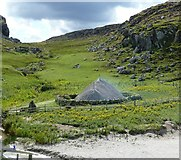 NB1340 : Reconstructed Iron Age House at Bostadh by Rob Farrow