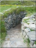 NB1340 : Entrance to reconstructed Iron Age house, Bostadh by Rob Farrow