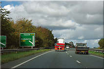 SE4496 : A19 - exit to A684 by Robin Webster