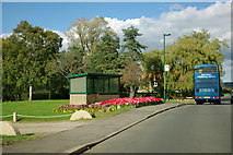 NZ5713 : Village green and bus shelter, Newton under Roseberry by Robin Webster