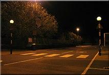 SK8508 : Pedestrian crossing at Tesco Oakham by Andrew Tatlow