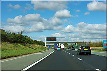 SE3869 : A1(M) approaching the Moor Lane bridge by Robin Webster