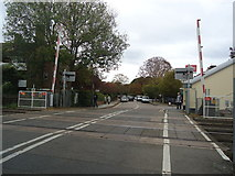 TQ1572 : Level crossing, Strawberry Hill by Stacey Harris