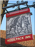 TR0753 : Woolpack Inn sign by Oast House Archive