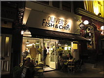 TQ2784 : Oliver's Fish & Chips, Haverstock Hill, NW3 by Mike Quinn