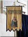TQ8833 : Banner, St Mildred's Church by Maigheach-gheal