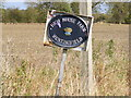 TM3173 : High House Farm sign by Adrian Cable