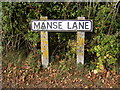 TM3074 : Manse Lane sign by Adrian Cable