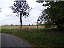 TM3074 : Manse Lane, Cratfield & the footpath to Church Road by Adrian Cable