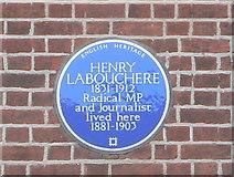 TQ1672 : Henry Labouchere - Blue Plaque by Eirian Evans
