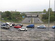 SJ9195 : Manchester Road crosses the M60 at Denton by M J Richardson