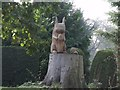 TF2371 : Carved Wooden Squirrel, The Grove, Edlington by J.Hannan-Briggs
