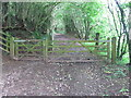 ST1584 : Gate on Rhymney Valley Ridgeway Walk by John Light