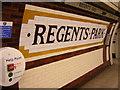 TQ2882 : Northbound platform, Regents Park Underground Station by Christopher Hilton