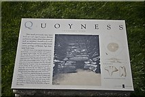 HY6737 : Information Board at Quoyness, Sanday, Orkney by Becky Williamson