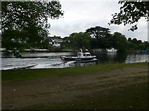 TQ1667 : Police launch on the Thames near Thames Ditton Island by Eirian Evans