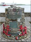 HU4039 : Scalloway: Shetland Bus memorial by Chris Downer