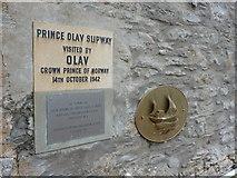 HU4039 : Scalloway: Prince Olav Slipway plaque by Chris Downer