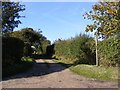 TM3374 : Footpath to Towranna Farm & Mary's Lane by Adrian Cable