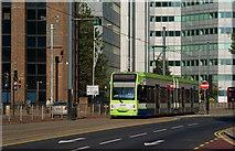 TQ3266 : Tram in Wellesley Road, Croydon by Peter Trimming