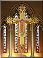 TQ2778 : St Mary, Cadogan Street, London SW3 - Christus Rex by John Salmon