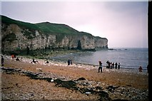 TA2372 : North Landing at Flamborough Head (2001) by Linda Hogg