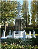 SK5274 : War memorial, Creswell by Andrew Hill