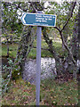 NH8908 : Signpost on the path towards the Lairig Ghru from Loch am Eilein by Phil Champion