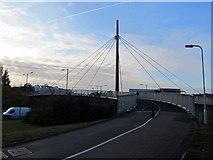 TQ1983 : Footbridge, Stonebridge park by Richard Rogerson