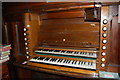 TQ8423 : Organ Console, Beckley Church by Julian P Guffogg