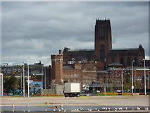 SJ3589 : Liverpool Cathedral, from the docks by Peter Barr