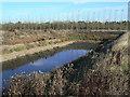 SK6431 : Slurry pit near Hill Farm by Alan Murray-Rust