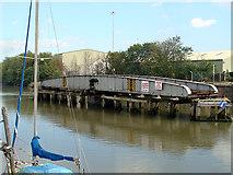 TF3243 : Railway swing bridge across the River Witham by John Lucas