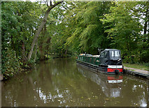 SK0220 : Trent and Mersey Canal near Bishton, Staffordshire by Roger  Kidd