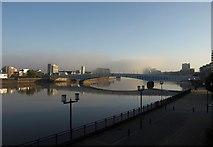 TQ2575 : Thames at Wandsworth by Derek Harper