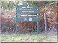 TM3855 : Tunstall Forest, Sandgalls Picnic Site sign by Adrian Cable