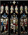 TL7262 : St Mary, Dalham - Stained glass window by John Salmon