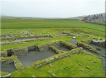 HU3909 : Jarlshof - View from the Laird's House northeastwards by Rob Farrow