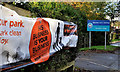 "J3874 : ""Dog fouling"" poster, Belfast by Albert Bridge"