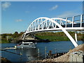 SK4530 : New footbridge over the River Trent at Shardlow by Graham Hogg
